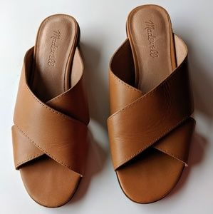 Madewell Ruthie Crisscross Sandals in Desert Camel